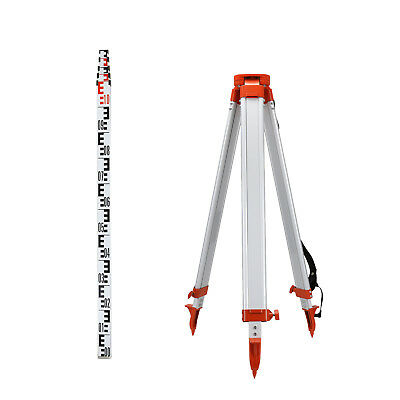 1.65M Aluminum Tripod 5M Staff Kit For Laser Level Portable Transits Auto Levels