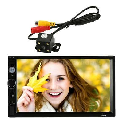 "Universal 7"" 2Din Car Multimedia Radio Mp5 Player Bt Hd Rear View Camera D1A7"