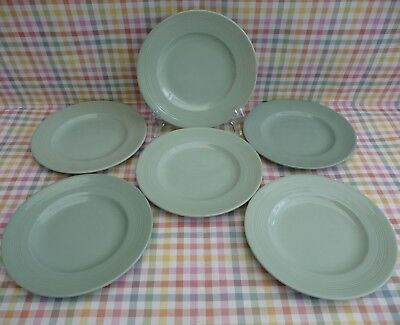 SET OF 6 VINTAGE WOODS WARE 'BERYL' TEA PLATES 17cm - FAB CONDITION