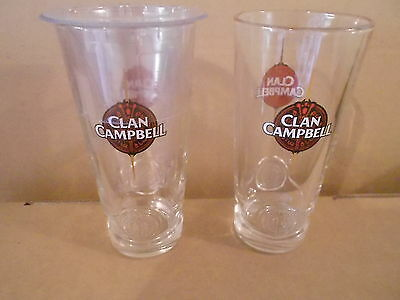 6 Verres Whisky Clan Campbell Tube   Bistrot Enseigne Neuf