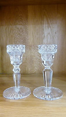 "Waterford Crystal Glass - Glandore/Tyrone - Pair of 5.25"" Candle Holders"