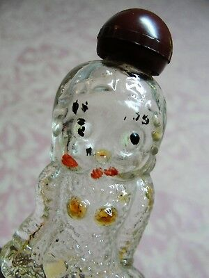 Small Vintage Figural Betty Boop Clear Glass Perfume Bottle