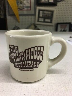 Vintage Chunky Restaurant Coffee Mug The Ancient Moose Sacramento California