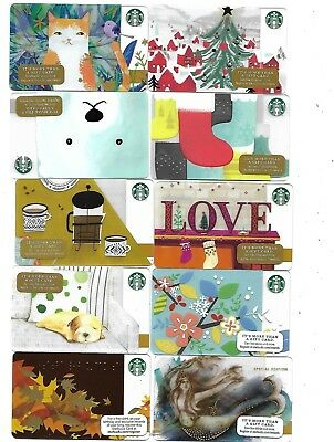88 Starbucks Gift Cards Lot Collectible  Set 2