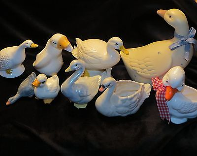 "Huge Lot Vintage Water Foul Ducks Geese Swans Approx. 2 3/4"" To 9"""