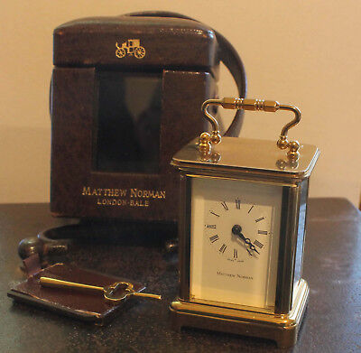 Miniature Matthew Norman Carriage Clock & Case Working M Norman London 1742