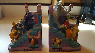 Hallmark Dr. Seuss THE ENDS Bookends~Horton~Grinch~Lorax~Cat in the Hat~Thidwick