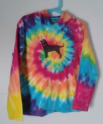 The Black Dog Marthas Vineyard  Kids XS Long Sleeve T-shirt Tie dyed Hooded 4/5