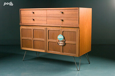 Nathan Mid Century Retro Teak Small Sideboard Drinks Cocktail Cabinet  1970s