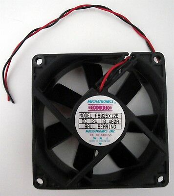 Mechatronics F8025X12B 80x80x25mm Ball Bearing Fan 12V 53cfm