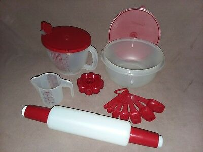 NOS NEW UNUSED Vintage Tupperware lot of baking utensils and accessories