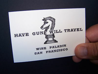 HAVE GUN WILL TRAVEL - (SIX Cards) 3 TV & 3 Business SIZE! Amazing Quality!!