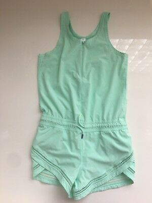 Ivivva by Lululemon Run Day Fun Day Cute Romper Green 12