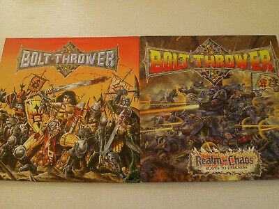 BOLT THROWER -Realm of Chaos & Warmaster- Metal-LPs!!!v/g+++  UK 1989/91