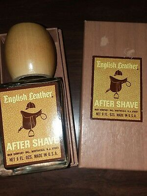Vtg New Original Memco English Leather Aftershave Splash Large 8 Fl Oz Full Rare