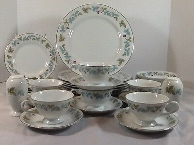 Fine China Vintage Pattern #6701 China Set 34 Pieces C. 1960s