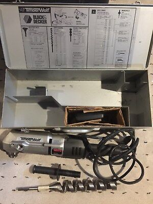 """BLACK & DECKER TIMBER WOLF 1350-09, 1/2"""",RIGHT ANGLE DRILL, USED,EXCELLENT Cond."""