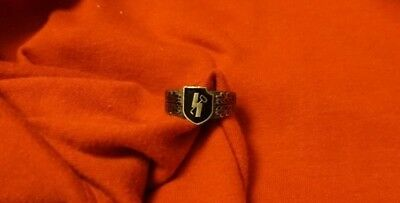 800 Silver Ring WW2 German Army 12. Panzer Division Military Ring 21 mm