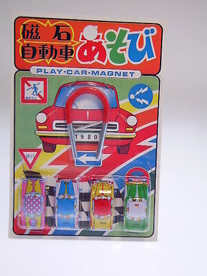 "Gspkw New Penny Toys  ""set 4 Cars-Play Car Magnet ""japan, New/neu/neuf On Card !"
