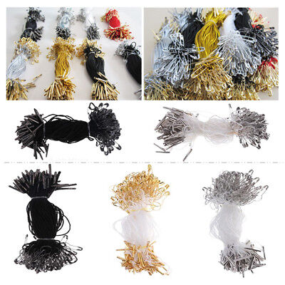 100pcs Clothing Tagging Supplies String Snap Lock Pin Loop Fastener Ties