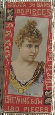 Old Adams Tutti Frutti Chewing Gum Display Box Actress Lillian Russell