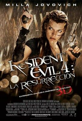 RESIDENT EVIL AFTERLIFE MOVIE POSTER DS ORIGINAL SPANISH 27x40 MILLA JOVOVICH
