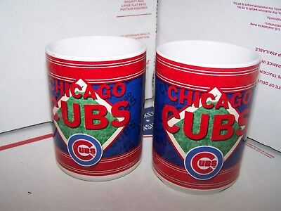 Lot Of 2 - Chicago Cubs 15 Oz  Mug  Mlb - Super Cool For Coffee  Or Any Beverage
