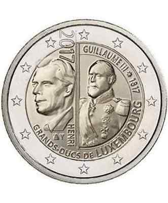 Dispo- Piece 2€ Comm. Luxembourg 2017 - Guillaume Iii -  Unc