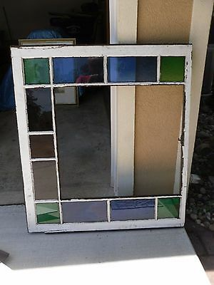 Vintage Window Stained Glass From Church Northern Pa 44 1/2 x 39 1/2