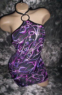 Exotic Dancer Stripper Keyhole Dress Bling!