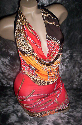 Exotic Dancer Stripper Drape Neck Cowl Dress
