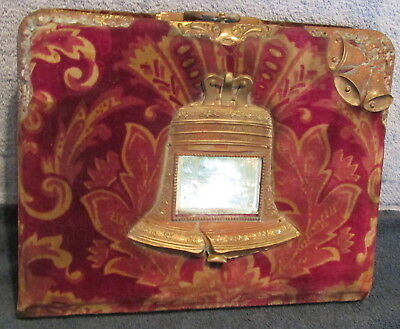 Antique Late 1800's Early 1900's Liberty Bell Cover Photo Album~No Photos~Nice++