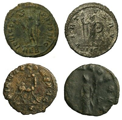 Lot of 4 Ancient Roman Coins - Probus, Gallienus