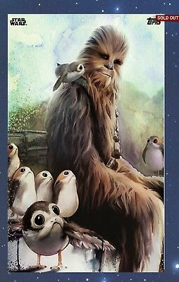 Topps Star Wars Card Trader The Last Jedi Galactic Watercolors Chewbacca 400cc