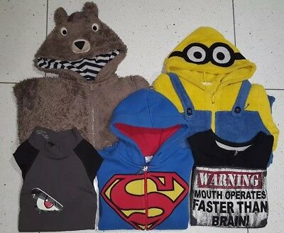 Boys Clothing Bundle Age 7-8 Minion Superman No Fear FlipBack
