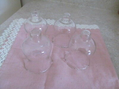 Home Interior / Homco Set Of 4 Small Clear Votive Cups With Small Ruffle Top