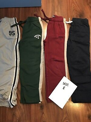 Lot of 8 Boy's Pants and Jeans Size M 7/8