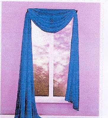 "Dartex Sima Fine Voile Extra Large Valance Scarf  60"" x 216"" Navy (2 available)"