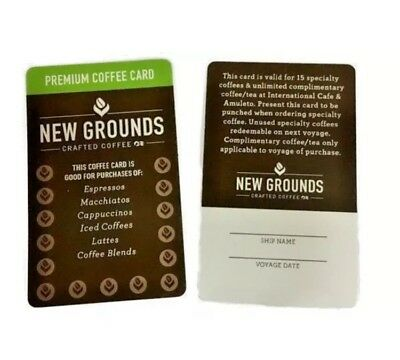 NEW 2 Princess Cruises New Grounds Coffee Cards Unused Unsigned FREE SHIPPING