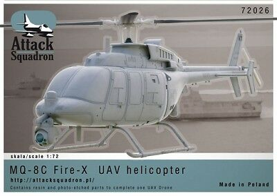 Attack Squadron 1/72 MQ-8C Fire Scout Kit