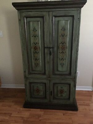hand painted armoir in good condition