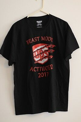UPS United Parcel Service Adult T-Shirt Beast Mode Activated 2017 _________ R1-1