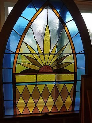 Stained Glass With A Resembelance To A Marijuana Leaf