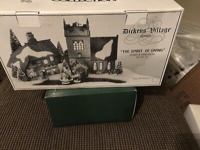 """Dept 56 Dickens Village """"The Spirit Of Giving"""" Start a Tradition Gift Set"""
