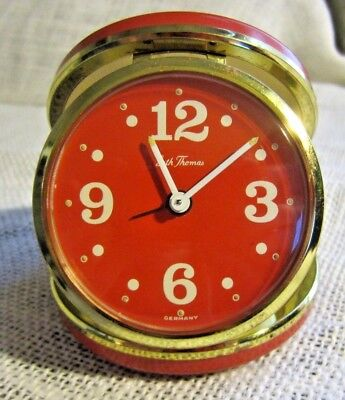 RARE Vintage Seth Thomas No.3562 Round Mod-Trotter Red Case Red Dial Luminous