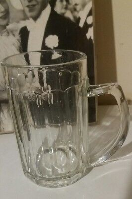 Vintage Rare 13 Sided Beer Mug Bubbled Glass Pint Retro Mid Century Or Earlier