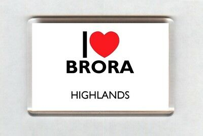 I Love Brora Fridge Magnet • Highlands • Scotland