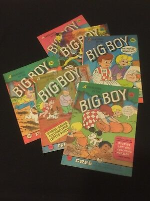 Lot of 6 Vintage Adventures Of The Big Boy Promo Comic Books