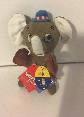 2004 Dream Pets Suede GOP Republican Elephant New with tags