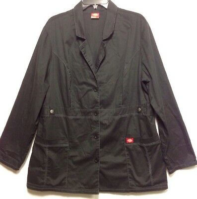 Dickies Youtility Lab Coat Style 82408 XL Black Junior Fit